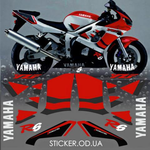 Набор виниловых наклеек на мотоцикл YAMAHA YZF-R6 1999