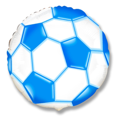 Шар F (18''/46 см) Круг  Футбольный мяч (синий) / Soccer Ball, 1 шт.