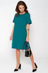 Современное платье для любительниц строгих, но ярких образов. Накладные карманы. По бокам разрезы.(Длина: 46=93см; 48=94см; 50=95см; 52=95см;)