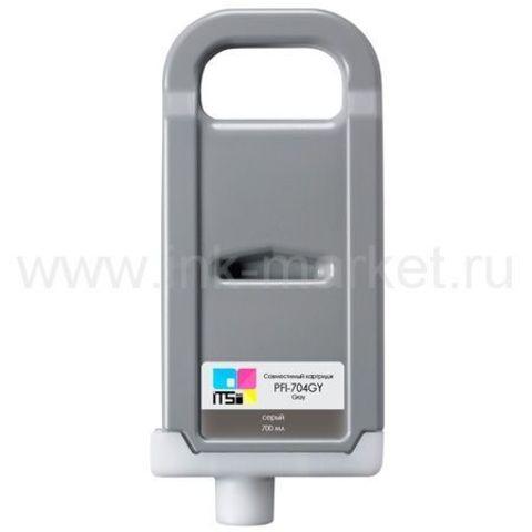 Картридж совместимый PFI-704 Gray Pigment 700 мл для Canon imagePROGRAF 8300/8300S