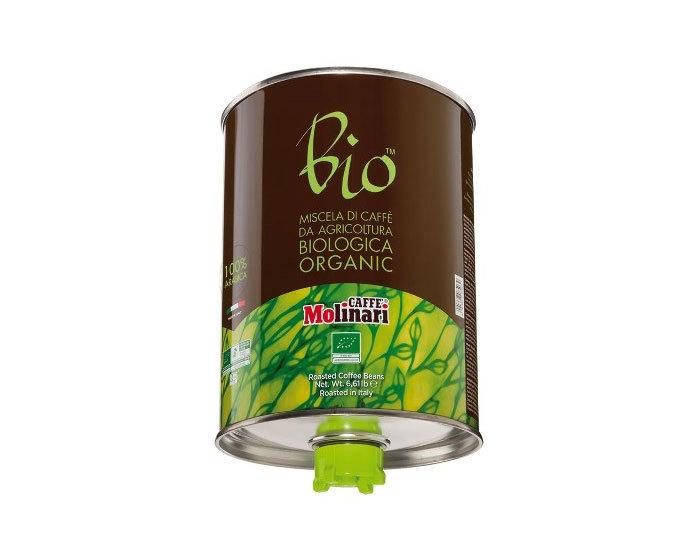 Кофе в зернах Molinari BIO ORGANIC 100% арабика, 3 кг