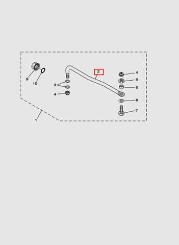 Тяга для лодочного мотора T40 Sea-PRO (26-2)