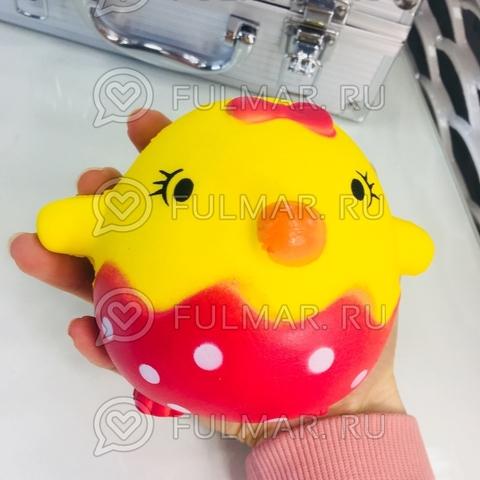 Сквиши Птенчик Круг Жёлтый игрушка антистресс