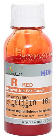 Чернила Dctec для Canon Pixma PRO, пигментные красные (Red), 100 мл (Серия 193650)