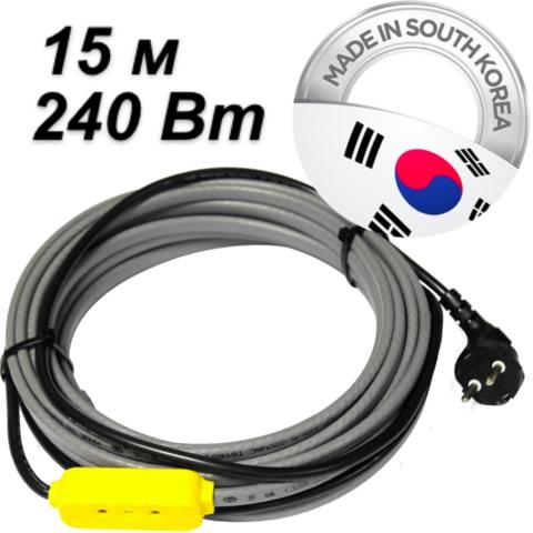Комплект для обогрева трубопровода (15м-240 Вт). Ю.Корея. EK-15