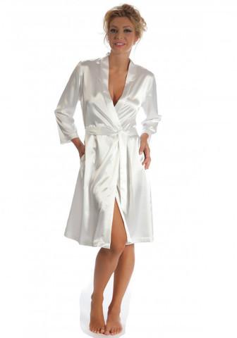 Шелковый женский халат