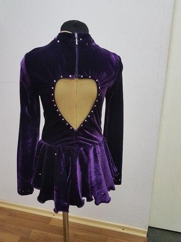 Платье для выступлений, рост 140 см (чернильное)
