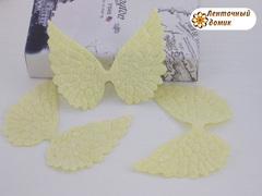 Декор глиттерный крылья большие лимонные