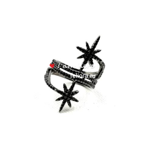 Кольцо METEORITES  noir из серебра с цирконами APM MONACO