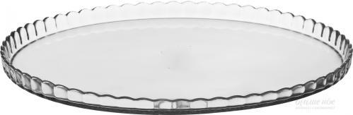 PATİSSERİE Блюдо  стеклянное , с бортом, 280 мм.