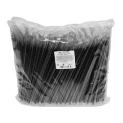 Трубочки для коктейля прямая 210мм,d=5мм,черная в инд.упак. 700шт/уп.ПП