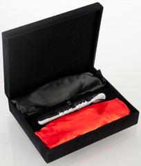 Анальная втулка с двумя сменными плетками (черная+красная)