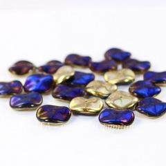 Бусина Ripple Волнистый диск, 12 мм, золотая с синим