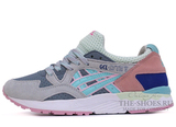 Кроссовки Женские Asics LYTE V Grey Coral White Blue