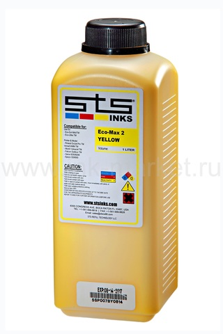 Чернила STS Low-Solvent, желтые (Yellow), 1000 мл