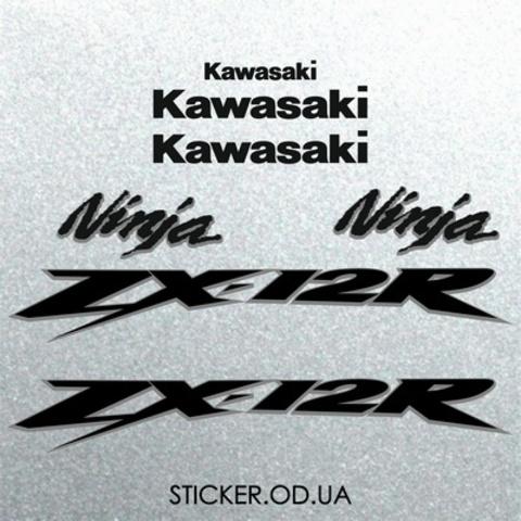 Набор виниловых наклеек на мотоцикл Kawasaki ZX-12R