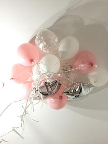Набор шаров нежно-розовый