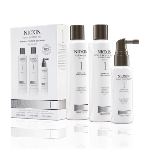 Nioxin Система 1 Набор из 3 продуктов шампунь кондиционер маска купить online