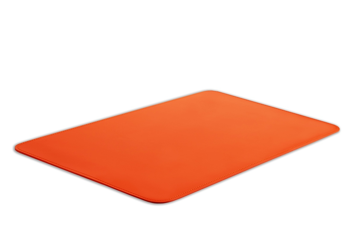 Бювар из итальянской кожи Cuoietto модель №9 цвет оранжевый вид сбоку.