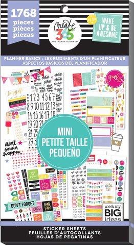 Блокнот со стикерами для ежедневника Create 365 Happy Planner Sticker Value Pack- PLANNER BASICS - 1768 шт