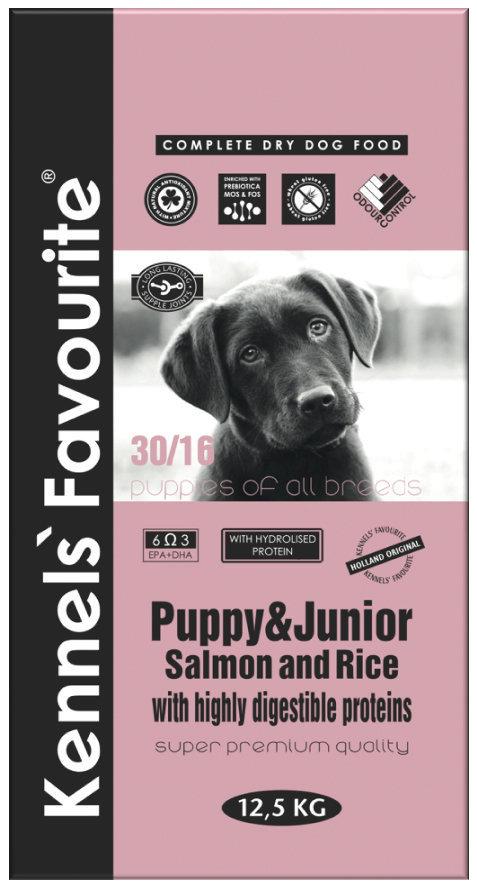 Сухой корм Корм для щенков Kennels' Favourite Puppy Salmon&Rice лосось и рис 185.970.jpg