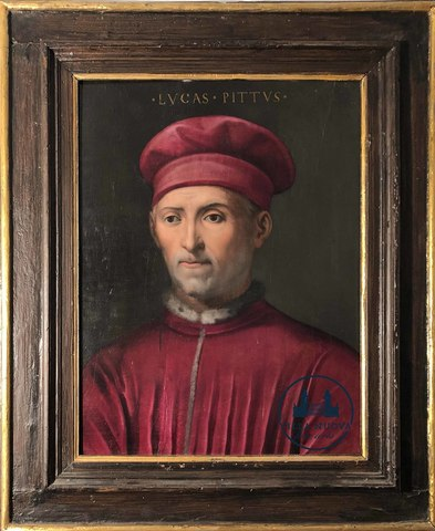 Giovanni Maria Butteri, (Florence, 1535/40 - 1606), attributed to, Portrait of Luca Pitti