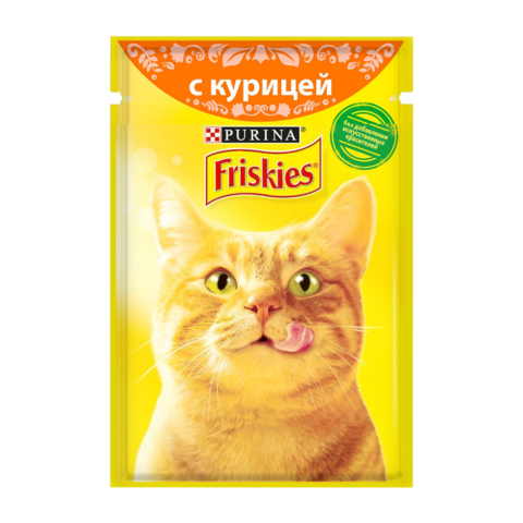 Friskies Консервы для кошек с Курицей в подливе (Пауч)