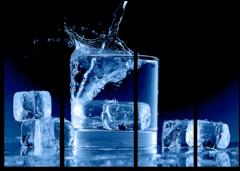"Модульная картина ""Кубики льда"""