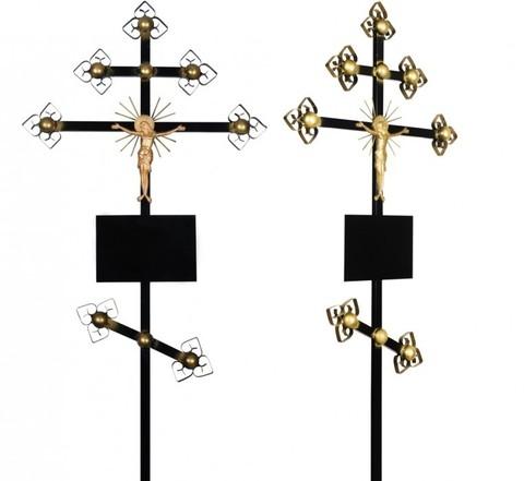 Крест намогильный металлический