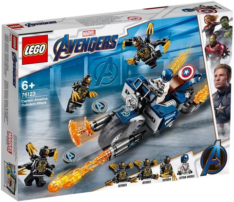 LEGO Super Heroes: Капитан Америка: Атака Аутрайдеров 76123 — Outriders Attack Set  — Лего Супергерои Марвел