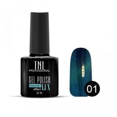 TNL, Гель-лак Magnet LUX №01 - сапфировый с блестками, 10 мл