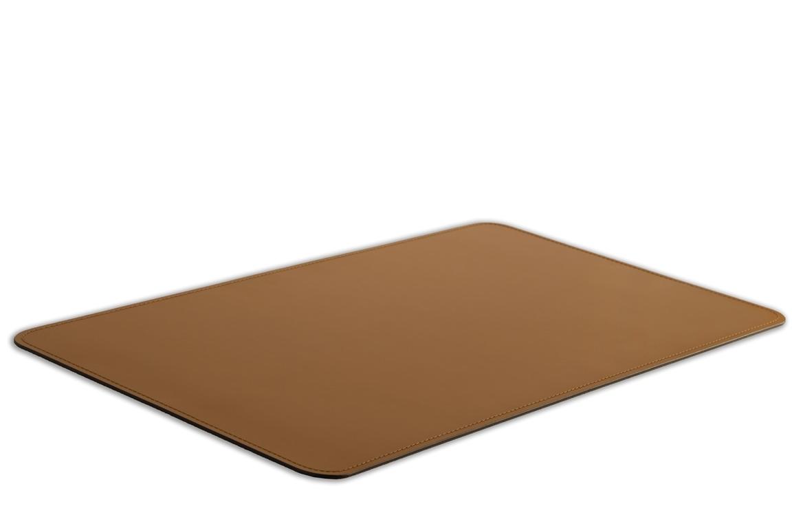 Бювар из итальянской кожи Cuoietto модель №9 цвет табак вид сбоку.