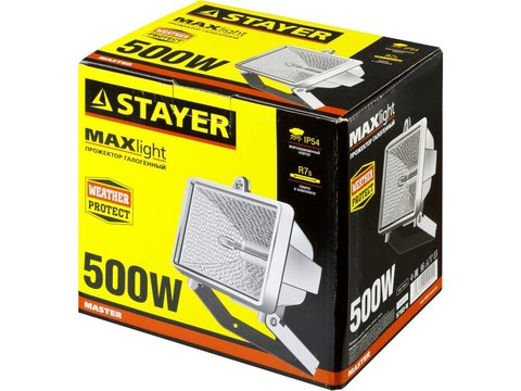 STAYER MAXLight прожектор  500 Вт галогенный, белый