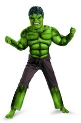 Костюм Халка с мускулами Делюкс со светящеся маской