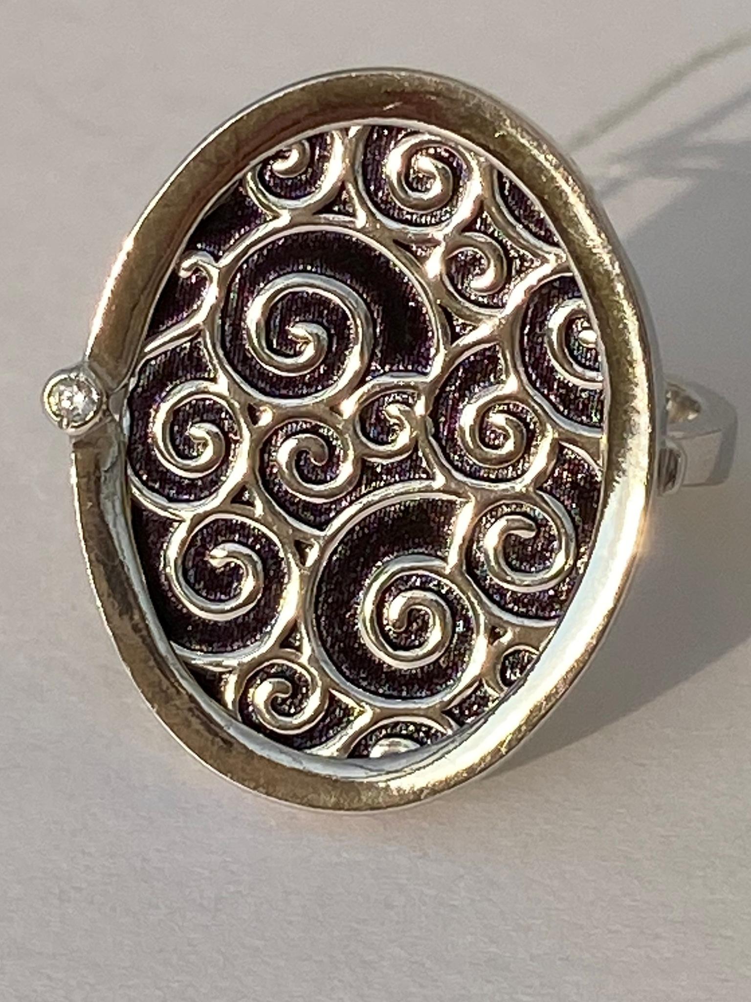 Лугано (кольцо из серебра)