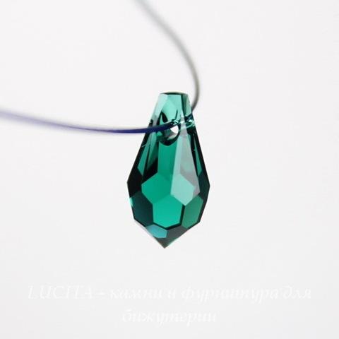 6000 Подвеска Сваровски Drop Emerald (11х5,5 мм)