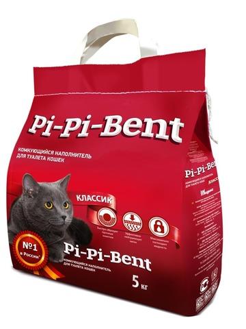 Комкующийся наполнитель Pi Pi Bent Классик (п/э пакет)