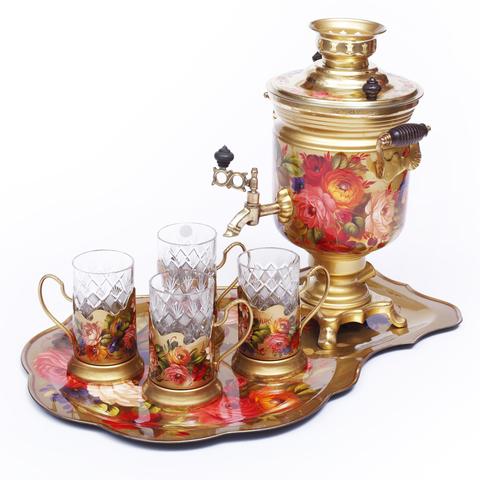 茶炊、托盘和4个杯托礼盒套装 SET01D1911914834
