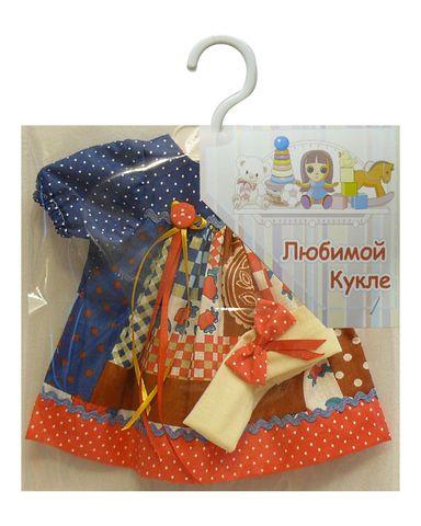 Платье печворк - Упаковано. Одежда для кукол, пупсов и мягких игрушек.