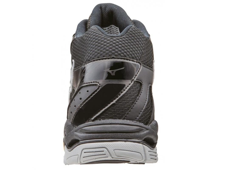 Мужские кроссовки для волейбола Mizuno Wave Bolt 4 Mid черные (V1GA1565 01) с высоким голеностопом фото