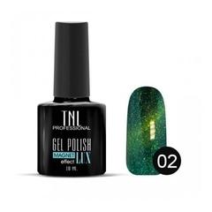 TNL, Гель-лак Magnet LUX №02 - травяной с блестками, 10 мл