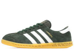 Кроссовки Мужские Adidas Hamburg Suede Khaki White Beige