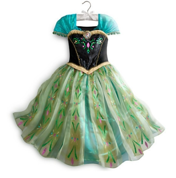 Холодное сердце платье Анны изумрудное