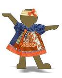 Платье печворк - Демонстрационный образец. Одежда для кукол, пупсов и мягких игрушек.