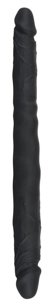 Двусторонние: Чёрный двусторонний фаллоимитатор Double Dong Black - 40 см.
