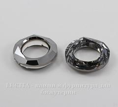 4139 Подвеска Сваровски Cosmic Ring Crystal Silver Night (20 мм)