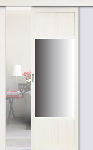 Перегородка межкомнатная Optima Porte 131.111 зеркало, цвет белый монохром, глухая (за 1 кв.м)