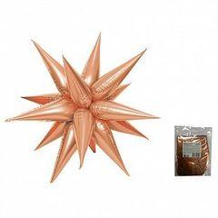 К Звезда составная 12 лучиков Розовое Золото в упаковке, 20