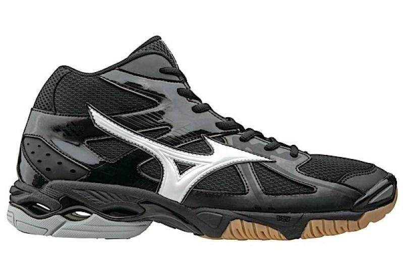 Мужские волейбольные кроссовки Mizuno Wave Bolt 4 Mid черные (V1GA1565 01) с высоким голеностопом