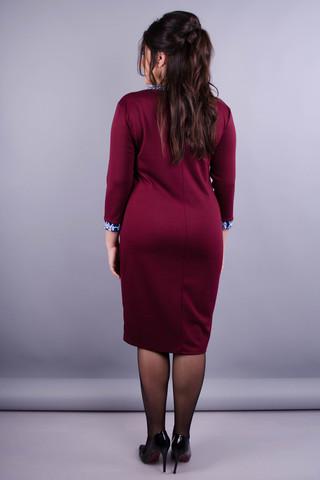 Монако. Женское красивое платье плюс сайз. Бордо.